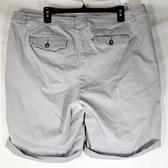 78393f88ff2 Lane Bryant Pants - Lane Bryant Womens Cuffed Bermuda Shorts Gray